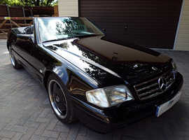 MERCEDES SL CLASS SL320 CONVERTIBLE R129 MODEL 1995 Auto 170000 Petrol Black, WITH HARD TOP