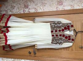 White and cream 3 piece dress