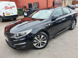 Kia Optima, 2017 (66) Black Saloon, Manual Diesel, 15,100 miles