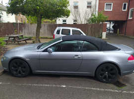 BMW 6 Series, 2005 (54) Grey Convertible, Automatic Petrol, 83,035 miles