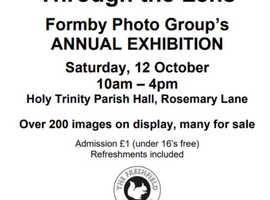 Through the Lens Formby Photo group annual exhibition 12 October 2019 at 10am £1 entry