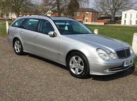 Mercedes E Class, 2004 (04) Silver Estate, Automatic Diesel, 182,500 miles