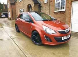 Vauxhall Corsa, 2013 (13) Orange Hatchback, Manual Petrol, 39,000 miles