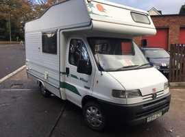 Peugeot Boxer 4 berth motorhome campervan