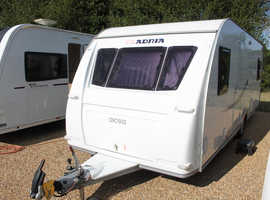 Adria Axcess 642 UP 2012 (Wheel Chair Friendly) 4 Berth Fixed Bed Caravan + Motor Mover + Full Isabella Awning with Carbon Poles + One Owner from New