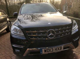 Mercedes M-CLASS, 2013 (13) Black Estate, Automatic Diesel, 68,962 miles