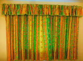 Hand made,  quality  lined curtains and pelmet