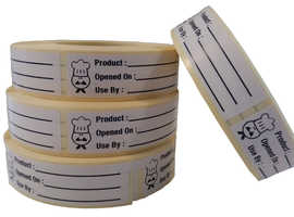 Food Labels,Use By Labels,Use By Stickers 500 On A Roll 65 mm x 18 mm,F