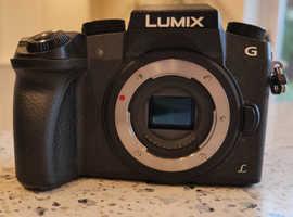 Panasonic DMC-G7K compact DSLR Mirrorless 4K Camera - body only (and brand new strap)