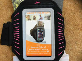 Armpocket Racer Slim Armband - Black /Pink Small Strap