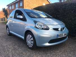 Toyota Aygo, 2005 (05) Blue Hatchback, 62,000 miles LOW MILES £20 A YEAR TAX