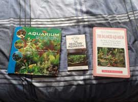 Aquarium books x 3