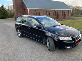 Volvo V50, 2012 (12) Black Estate, Manual Diesel, 391,000 miles