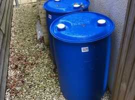 3 120 LITRE Barrels ideal water butts or the start of a raft !