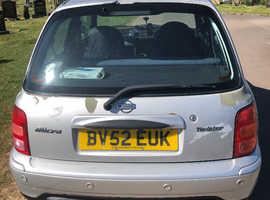 Nissan Micra, 2002 (52) Silver Hatchback, Manual Petrol, 62,322 miles