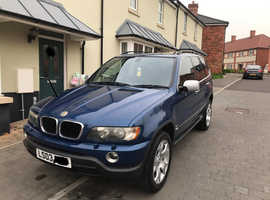 BMW X5, 2003 (03) Blue Estate, Automatic Petrol, 106,000 miles