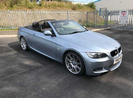 BMW 3 Series, 2010 (10) Blue Convertible, Manual Diesel, 53,000 miles