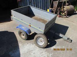 Small car trailer.