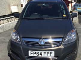 Vauxhall Zafira, 2014 (64) Grey MPV, Manual Petrol, 20,000 miles