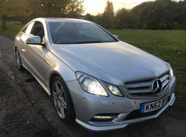 Mercedes E Class, 2012 (62) Silver Coupe, Automatic Diesel, 99,550 miles