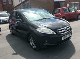 Honda FR-V, 2006 (56) black estate, Manual Diesel, 113,000 miles