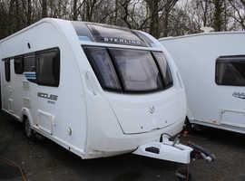 Sterling Eccles Sport SR 442 2013 2 Berth Caravan + Motor Movers + 3 Months Warranty Included