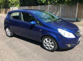 Vauxhall Corsa 1.2 DESIGN 5 DR  2006 (56) Blue  ONE OWNER Manual Petrol, 72,K miles FSH HPI CLEAR HALF LEATHER