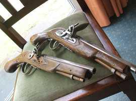 Fintlock Pistol Pair Replica