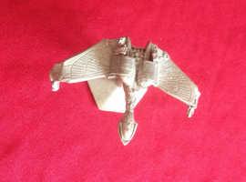 Star Trek Klingon bird of prey. Made in pewter.