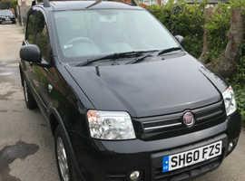 Fiat Panda, 2010 (60) black hatchback, Manual Petrol, 57,650 miles