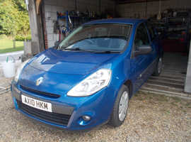 Renault Clio, 2010 (10) Blue Hatchback, Manual Petrol, 40,400 miles
