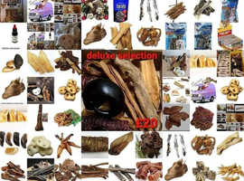 Natural pet treat selections