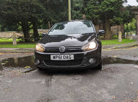 Volkswagen Golf, 2012 (61) Black Hatchback, Manual Diesel, 56,841 miles