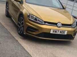 Volkswagen Golf, 2017 (17) Yellow Hatchback, Semi auto Diesel, 38,707 miles