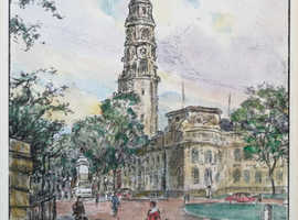 Original Watercolour - Cardiff City Hall