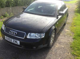 Audi A4, 2002 (02) Black Saloon, Manual Petrol, 98,000 miles in vgc