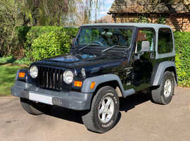 Jeep Wrangler Sport, 2001 (Y) Hard Top, Black 4x4, Manual Petrol, 71,200 miles