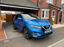Nissan Qashqai, 2017 (67) Blue Hatchback, Manual Diesel, 26,800 miles