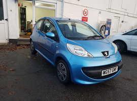 Peugeot 107, 2007 (57) Blue Hatchback, Semi auto Petrol, 24,000 miles
