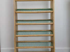 CD storage rack, holds 174 CDs.