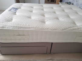 Double 2 drawer divan and mattress