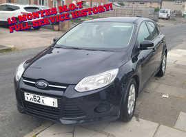 Ford Focus, 2012 (62) Black Hatchback, Manual Diesel, 102,000 miles
