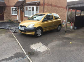 Toyota Yaris, 2001 (Y) Gold Hatchback, Manual Petrol, 88,988 miles