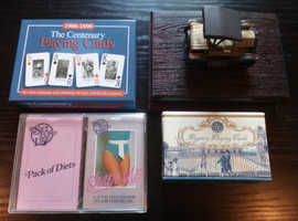 8 Packs Of Vintage Playing Cards In 4 Presentation Boxes