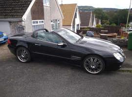 Mercedes SL, 2005 (05) Black Convertible, Automatic Petrol, 155,569 miles