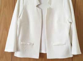 3/4 sleeve off White M&Co Jacket Size 12