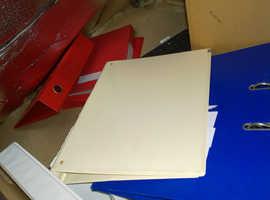 FREE Folders A4 binders ring binders