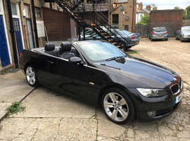 BMW 320, 2008 (08) Black Convertible, Automatic Diesel, 90,159 miles
