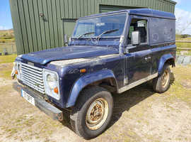Land Rover 90, 2001 (51) Blue 4x4, Manual Diesel, 88,000 miles