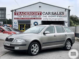 2007/07 Skoda Octavia 1.9 TDi Elegance Estate finished in Champagne Metallic. 83,460 miles